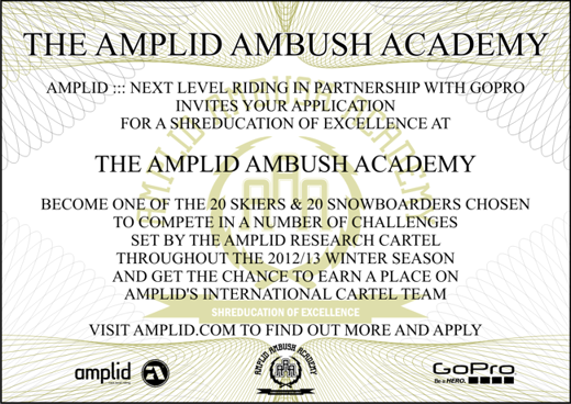 Amplid Ambush Academy Invitation